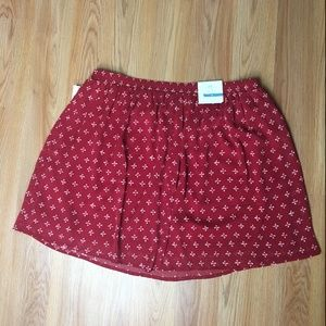 NWT Old Navy Red A-line Skirt Size M